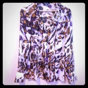 Etcetera women's blouse, silk, multicolor, long sl